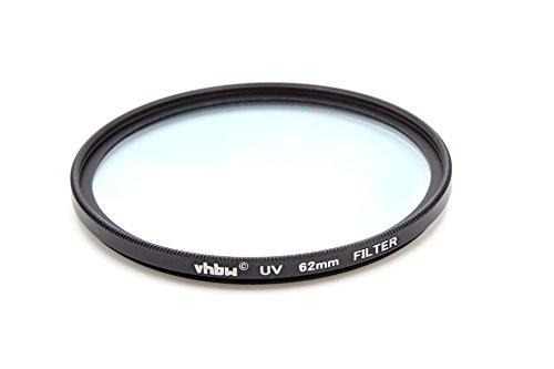 vhbw Universal UV Filter kompatibel mit Kamera Objektiven mit 62mm Filtergewinde - UV Schutzfilter, Schwarz