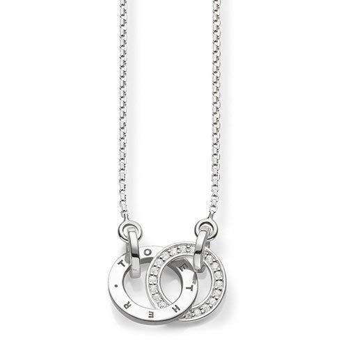Thomas Sabo Damen-Kette Together Forever Glam & Soul 925 Sterling Silber Diamant weiß Länge von 40 bis 45 cm D_KE0005-725-14-L45v