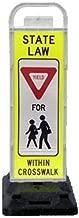 VP-6536-YIELD-FB VP-6500 Series Yield In-Street Pedestrian Crossing Systems for School Zones U-Frame, & 32lb U-Base