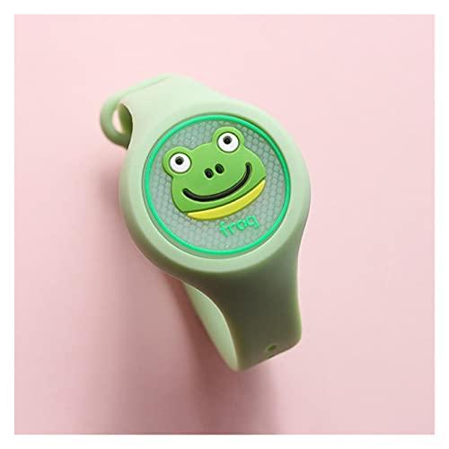 DUNLIN Pulsera De Repelente De Mosquitos Luminosa Mosquito Repelente Reloj Prevención De Mosquitos para Niños En Verano (Color : Light Green)