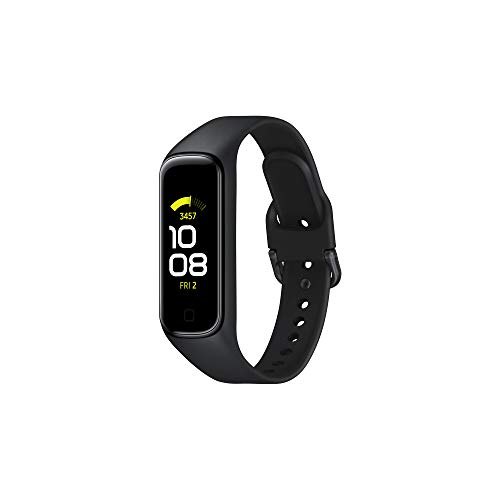 Samsung Galaxy Fit2 Nero con Accelerometro, Giroscopio, Monitoraggio Frequenza cardiaca, Tracker allenamento, Display 1.1' AMOLED, batteria 159 mAh [Versione Italiana]