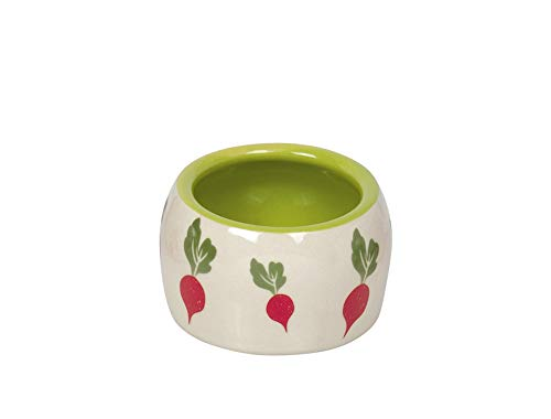 Nobby Nager Keramik Futtertrog Radish Ø 8 x 4,5 cm, 0,125 l