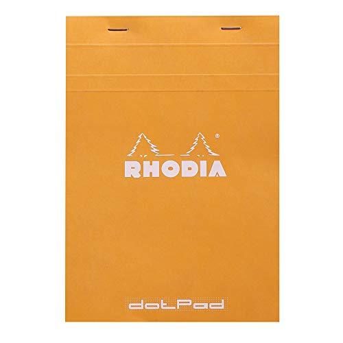 Rhodia 16558C DotPad Block (DIN A5, Dot Grid, 14,8 x 21 cm, 80 Blatt) 1 Stück orange