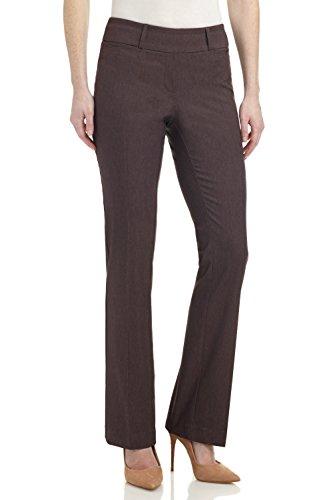 Rekucci Pantalon Siempre Comodo de Mujer Pantalon Ajustado Ligeramente Acampanado