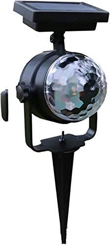 HZWLF Projetor solar de luzes LED que mudam de cor, lâmpada de projeção para gramado ao ar livre, à prova d'água, refletor para decoração de caminhos de jardim ao ar livre