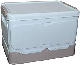 Storage Box, Folding Storage Box with Lid, Outdoor/Photo/Accessories/Student/Family Storage Case(Blue)