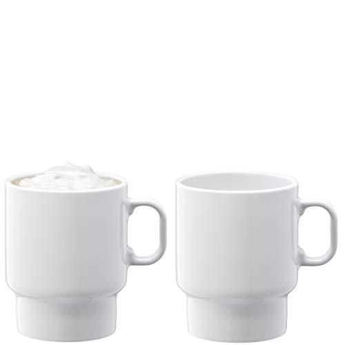 LSA UP03 Utility - Tazza da cappuccino, 380 ml, 2 pezzi, colore: Bianco