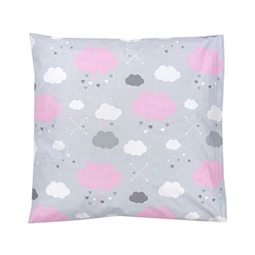 TupTam Funda para Cojin con Diseño Decorativo para Niños, Nubes Rosa, 40 x 40 cm