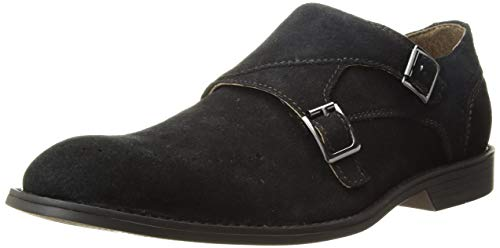 STACY ADAMS Men's Wentworth Double Monk Strap Loafer, Black, 8.5 M US