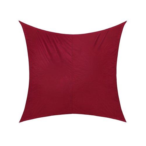 jarolift Voile d'ombrage | Toile d'ombrage | Carré | Tissu imperméable à l'eau | 500 x 500 cm, Bordeaux