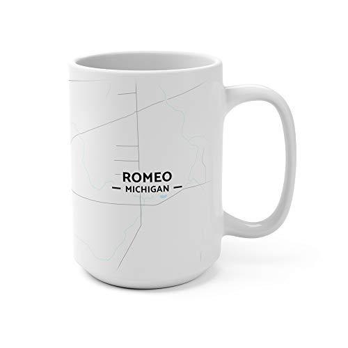 Romeo, Michigan Map Mug (15 oz)