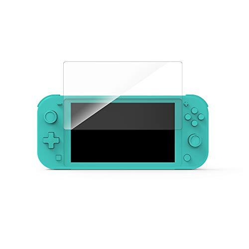 PUCHIKA - Protector de pantalla para Nintendo Switch Lite, protector de pantalla, accesorios transparentes con vidrio templado 9H, antihuellas