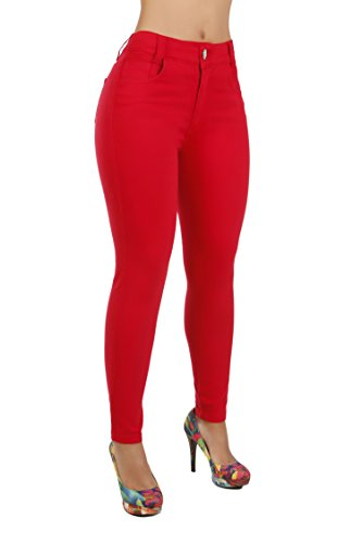 Curvify Classic High Rise Skinny Jeans | High Waist Stretchy Jeans Levanta Cola