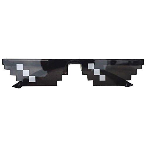 Topgrowth Occhiali da Sole Unisex 8 Bit Pixel Deal Toy Mosaico Finto Occhiali Divertenti Oggetti Per Feste Sunglasses Toy (A)
