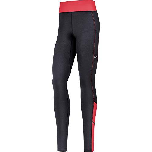 GORE WEAR R3 Lange Thermo Damen Hose, schwarz (Schwarz/Pink), 34