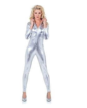 Underwraps Women s Stretch Jumpsuit Silver X-Small