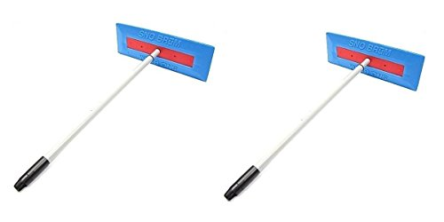 SnoBrum Original Snow Removal Tool with 27' to 46' Compact Telescoping Handle- Remove snow from...