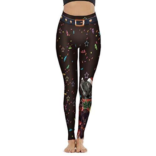Leggings deportivos cintura alta para mujer,Las polainas impresas en 3D las mujeres forman las polainas elásticas,Halloween y Navidad,Pantalones con para gimnasio, yoga, correr, ejercicio aeróbico