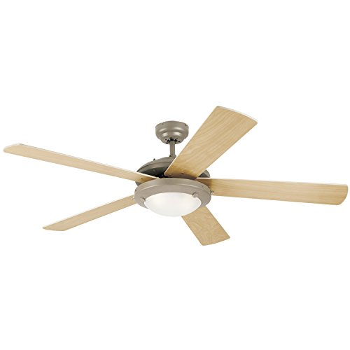 Westinghouse Lighting 7813620 Comet Indoor Ceiling Fan with Light, Brushed Pewter