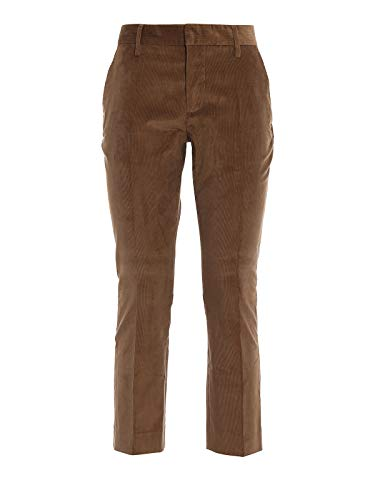 DSQUARED2 Dennis Stretch Corduroy Broek Marrone Donna