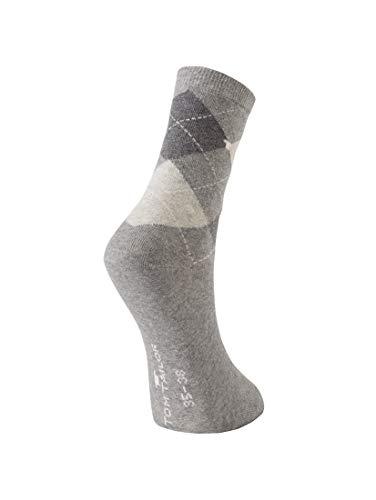 TOM TAILOR Damen Socks Socken im Doppelpack light grey melange,35-38