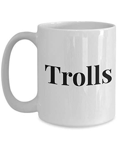 Eastlif Taza de café - Trolls - Gran Regalo para Amigos o colegas millennials 11oz