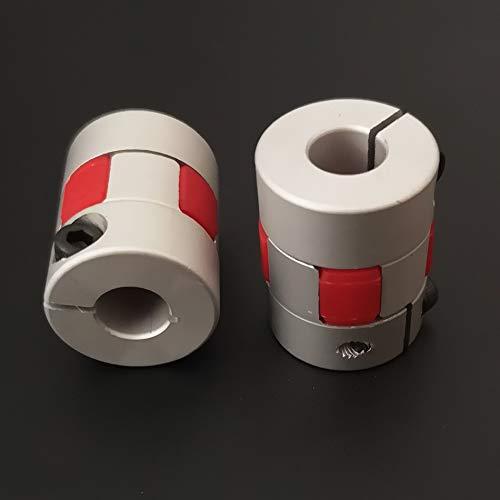 2 Stück 5 mm auf 8 mm Wellenkupplung, 25 mm Länge, 20 mm Außendurchmesser, Aluminiumlegierung, Gelenkverbinder, Schrittmotor, Leitspindel, flexible Koppler für CR10 CR-10S Ender 3/5, A8 3D-Drucker