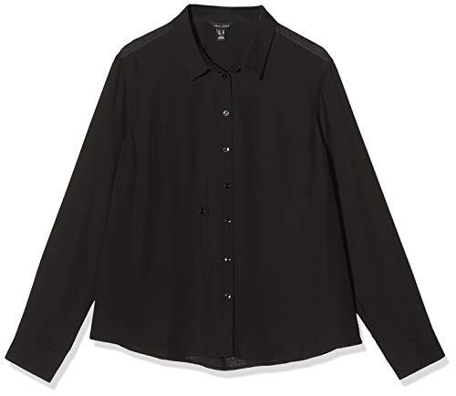 New Look F Plain Chloe Shirt Camisa, Negro, 6 para Mujer