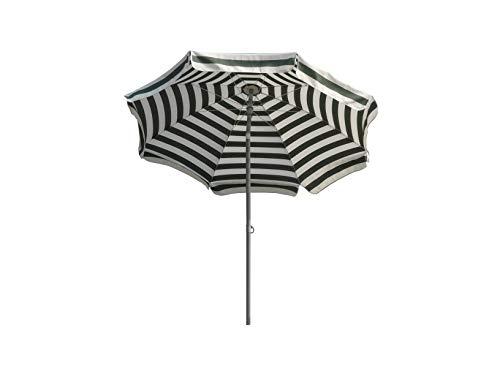 Maffei Art 72 Mare. Parasol Rond Dralon Ø cm. 200. Rayé Blanc/Taupe. Made in Italy