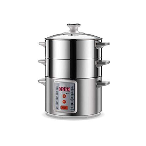 SHUUY Eléctrica Vapor del alimento de 3 Capas cocinando el pote, 1360W,...