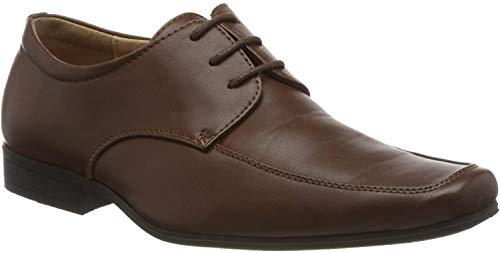Paisley of London Elegante Schuhe, Jungen, für Hochzeit, Braun, Schuhgröße 23,5 - 36, braun - dunkelbraun - Größe: 31 (Herstellergröße 12)