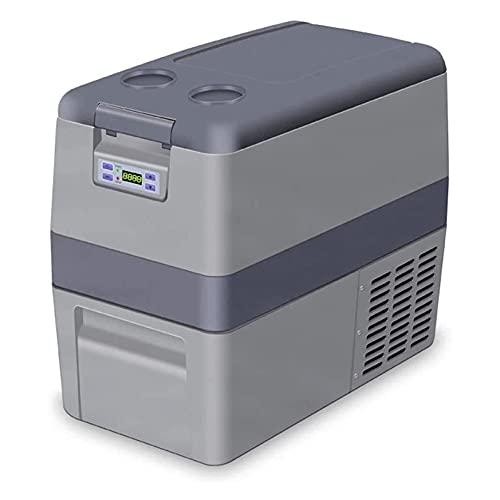 Refrigerador de camping, mini refrigerador Refrigerador de coche Vehículo portátil Refrigerador de camping con congelador para camión RV Barco Picnic Viajes al aire libre (Color: Gris, Tamaño: 25L)