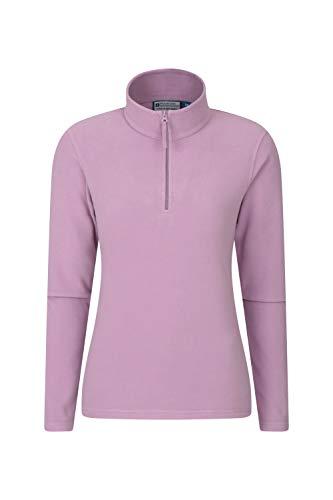 Mountain Warehouse Camber Damen-Fleece mit halbem Reißverschluss - atmungsaktiv, leicht, warm, fusselfrei, mit hoher Feuchtigkeitsregulierung - für den Winter Dunkelviolett M