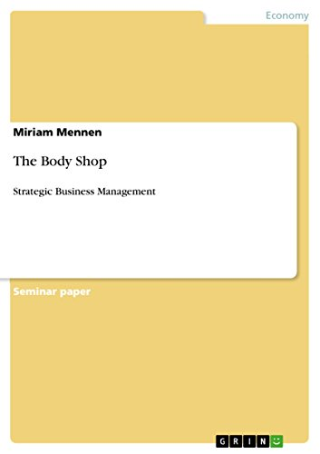 The Body Shop: Strategic Business Management (English Edition)