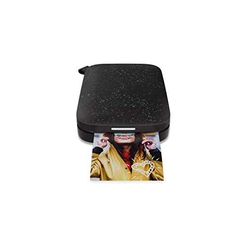HP Sprocket (1AS86A) Stampante Fotografica Istantanea Portatile e senza Bordi, Bluetooth 5.0 e Led Personalizzabile, Misura 5 x 7.6 cm, Compatibile con Android e iOS, Nera