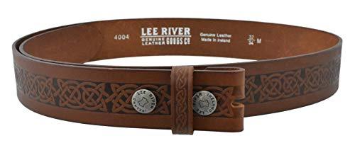 Lee River Goods Co - Men's Brown Celtic Leather Belt Setanta BR - XX-Large (44-46in or 112-117cm), (Buckle not Included)