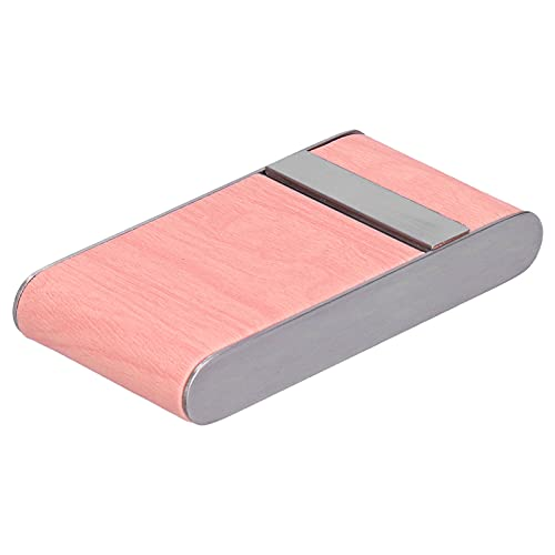 Cigarette Case for Women - Caixa de cigarro portátil Porta-cigarros e caixa de armazenamento para cigarros 20pcs, organizador de cigarros tipo flip elegante com faixa de madeira(Cor de rosa)
