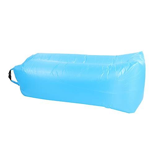 ZTOONE aufblasbare Liege Couch Air Lounger Lazy Sofa mit Tragetasche, Hängematte Aufblasbare Matratze Aufblasbares Bett Pool Float zum Schwimmen, Camping, Strand, Wandern, Park, Garten, Pool (Blau)