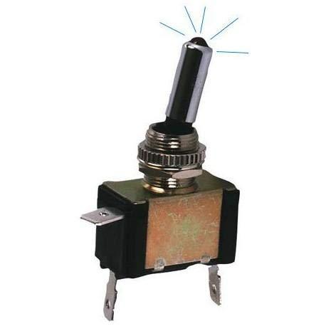 Interrupteur OnOff Metal avec LED Bleu - ADNAuto