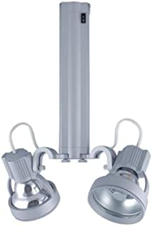 Green Color Jesco Lighting SG4A-6//GN-S Sleek Plus Adjustable Grounded 6-Watt T4 Light Fixture Silver Finish