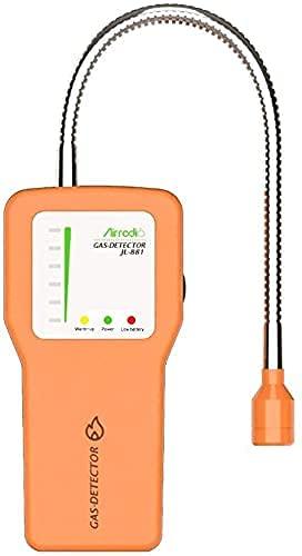Detector de Gas Combustible JL-881 Detector de Gas portátil de metano Gas Natural LPG Probador de Fugas de Gas con Alarma de Sensor de probador de Gas propano de Cuello de Cisne de 12 Pulgadas