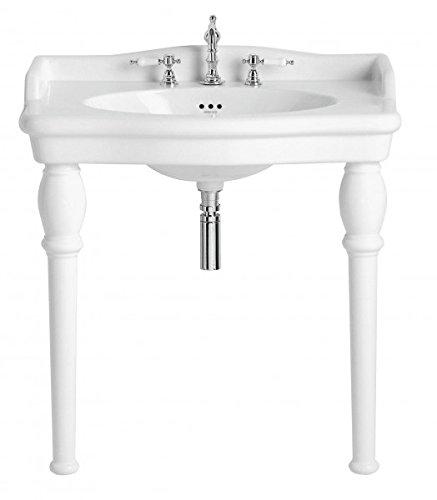 Casa Padrino Jugendstil Stand Waschtisch Weiß Barocco - Waschbecken Barock Stil