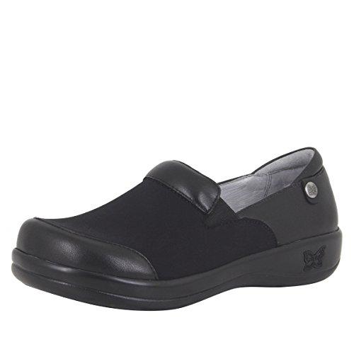 Alegria Keli Womens Slip-On Shoe Black Nappa Stretch 9 M US