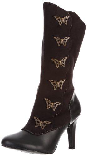 Demonia TESLA-107, Damen Halbschaft Stiefel, Schwarz (Schwarz (Blk Microfiber-Vegan Leather)), 42 EU (9 Damen UK)