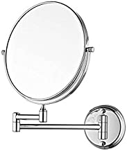 """VelKro Bathroom Mirror with 5X Magnifying Mirror & Wall Bracket with Adjustable Frame/8"""" Makeup Mirror/Shaving Mirror - Silver"""