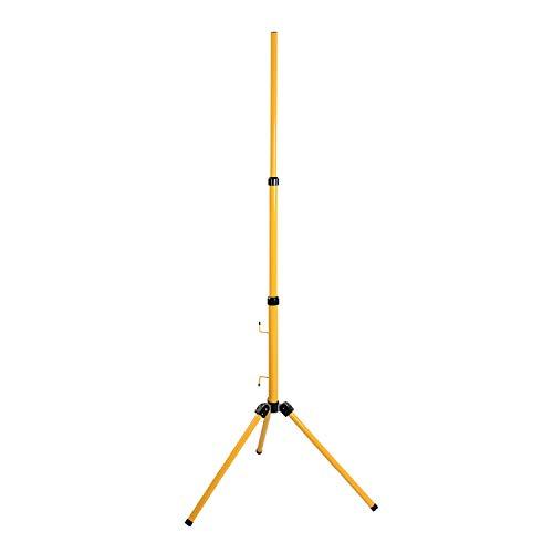 as - Schwabe Stativ für LED-Strahler / Halogen-Strahler – Stativ ohne Traverse geeignet zur Halterung von Baustrahlern, Arbeitsleuchten und Flutern I Ständer höhenverstellbar bis 1,80 m – Gelb I 46650