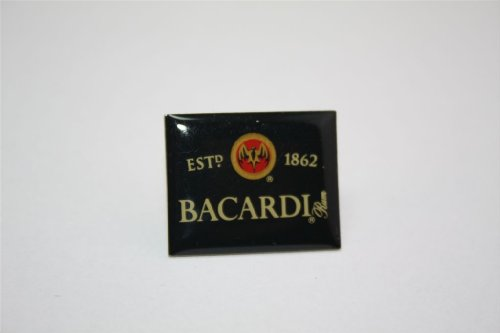 Bacardi Pin - Logo Black Edition Rum Cuba Fledermaus Anstecker