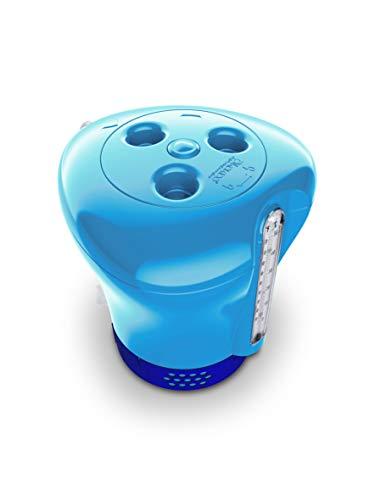 Höfer Chemie GmbH Pool Dosierer inkl. Thermometer- blau - für 20g und 200g Tabletten