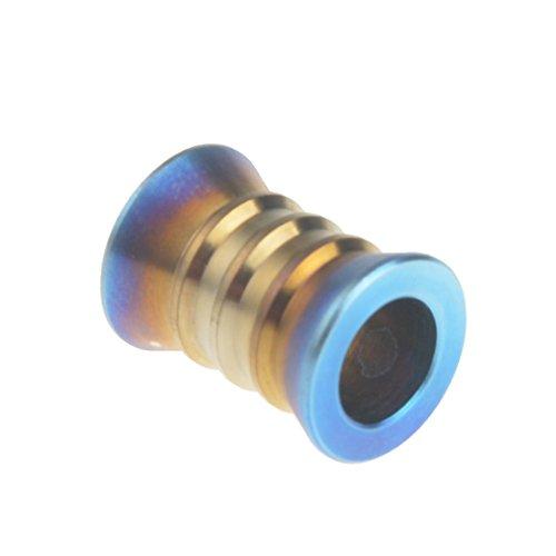 Wanyifa Pendentif Perle Cordon pour EDC Chaîne Cordon Fermeture Éclair Titane 14 mm bleu