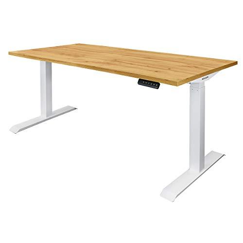 Novigami Schreibtisch elektrisch höhenverstellbar Ototo | BxT 1600 x 800 mm | Eiche | Tischgestell Stehtisch Bürotisch Tischplatte
